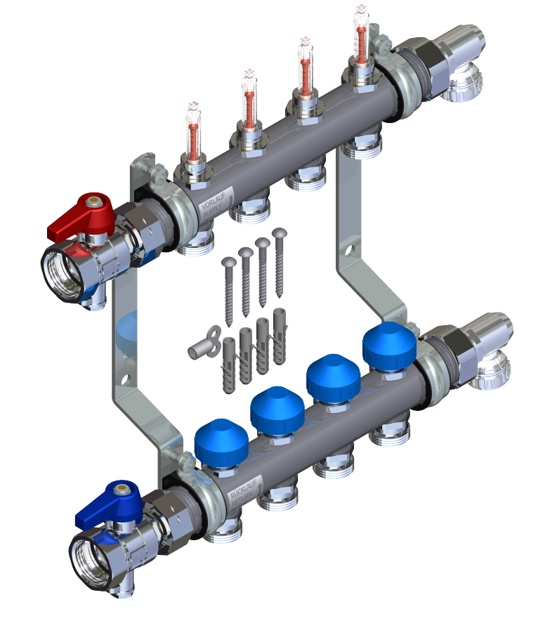 Stainless Steel Manifold Hkv2013af With Flow Meters For