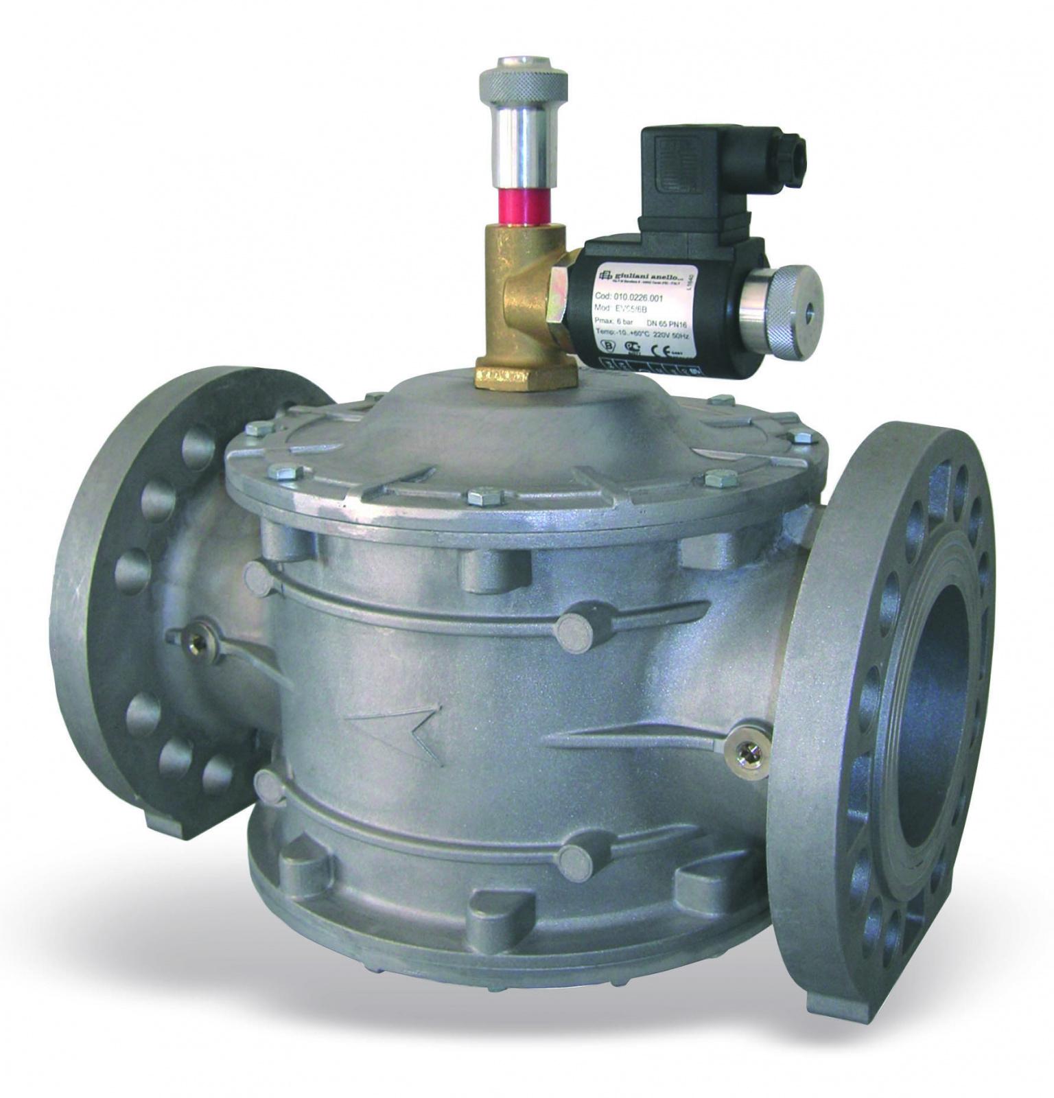 Gas solenoid valve N.C. EV