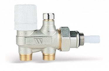 4-way nickel-plated thermostat adaptable valve 102M