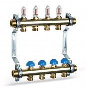 Heating Brass Manifold HKV2013A 50mm with flow meters for Underfloor