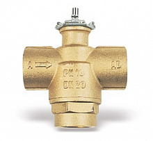 3-way brass zone valve VU03