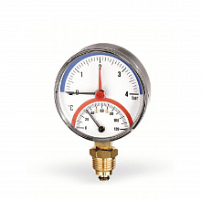 Combined thermometer pressure gauge F+R828 (TMRP)