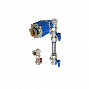 Heat meter installation set with balancing valve MH